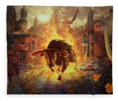 City Bull City Fleece Blanket