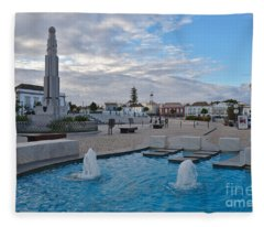 City Center Of Tavira Fleece Blanket