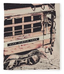 City Circle Street Artwork Fleece Blanket