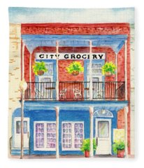 City Grocery Oxford Mississippi  Fleece Blanket