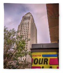 City Hall Seen From Grand Park Fleece Blanket