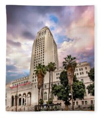 City Hall Up Close Fleece Blanket