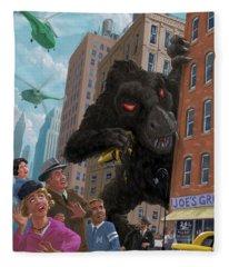 City Invasion Furry Monster Fleece Blanket