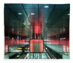 City Metro Station Hamburg Fleece Blanket