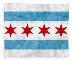 City Of Chicago Flag Fleece Blanket
