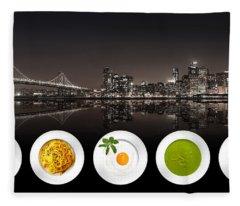 City Of Cultural Cuisines Fleece Blanket