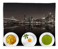 City Of Cultural Cuisines Fleece Blanket