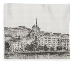 City Of Geneva Fleece Blanket