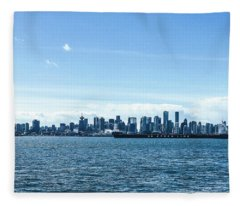 City Of Vancouver From The North Shore Fleece Blanket