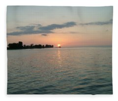City Pier Holmes Beach Bradenton Florida Fleece Blanket