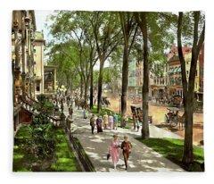 City - Saratoga Ny -  I Would Love To Be On Broadway 1915 Fleece Blanket