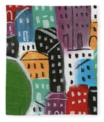 City Stories- By The Park Fleece Blanket