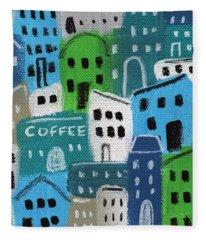 City Stories- Coffee Shop Fleece Blanket