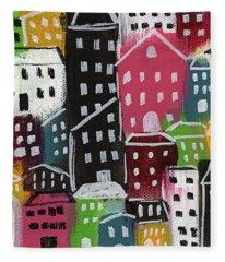 City Stories- Colorful Fleece Blanket