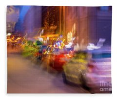 Fleece Blanket featuring the photograph City Street by Mats Silvan