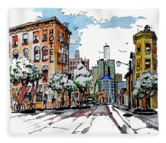 City Street Fleece Blanket