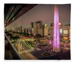 City Sunset Fleece Blanket