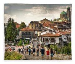 City - Veliko Tarnovo Bulgaria Europe Fleece Blanket