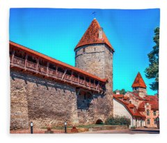 City Wall Fleece Blanket