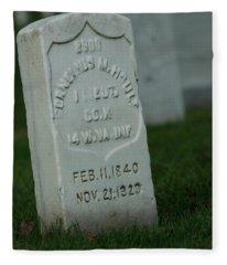 Civil War Gravestone Fleece Blanket