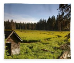 Clackamas Meadow Pump House- 2 Fleece Blanket