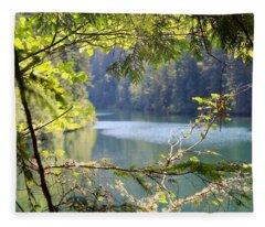 Clackamas River Fleece Blanket