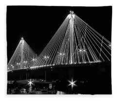 Clark Bridge Night Fleece Blanket