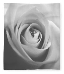 Classic Bw Rose Fleece Blanket