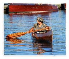 Classic Canoe Fleece Blanket