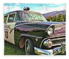 Classic Cop Car Fleece Blanket