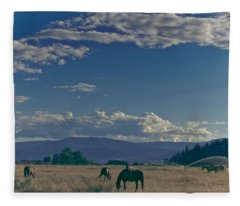 Classic Country Scene Fleece Blanket