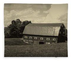 Classic New England Antique Panoramic Fleece Blanket