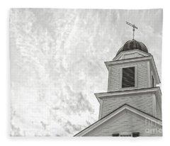 Classic New England Church Etna New Hampshire Fleece Blanket