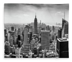 Classic New York  Fleece Blanket