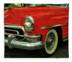 Classic Red Chrysler Fleece Blanket