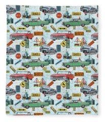 Classic Travelers-a Fleece Blanket