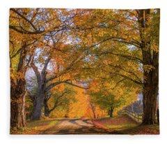 Classic Vermont Fall Fleece Blanket