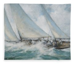 Classic Yacht  Twixt Wind And Water Fleece Blanket