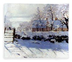 Claude Monet The Magpie - To License For Professional Use Visit Granger.com Fleece Blanket