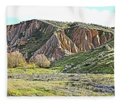 Clay Cliffs Near Danseys Pass Fleece Blanket