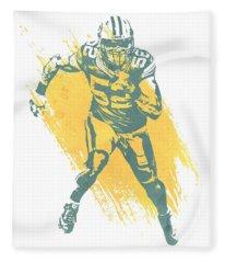 Clay Matthews Green Bay Packers Water Color Art 1 Fleece Blanket