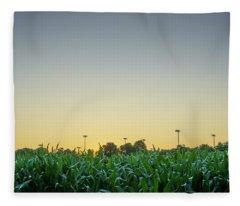 Clear Skies Sunset Fleece Blanket