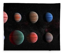 Clear To Cloudy Hot Jupiters Fleece Blanket