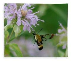 Clearwing Moth Fleece Blanket