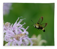 Clearwing Moth Fleece Blanket