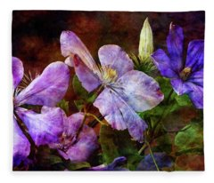 Clematis 1330 Idp_2 Fleece Blanket