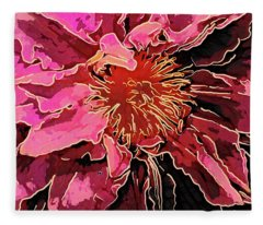 Clematis Up Close And Personal Fleece Blanket