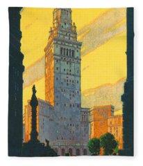 Cleveland - Vintage Travel Fleece Blanket