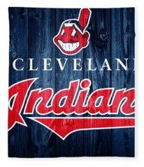Cleveland Indians Barn Door Fleece Blanket