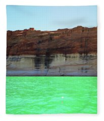 Cliff At Lake Powell Fleece Blanket